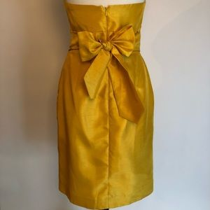 Jenny Yoo Strapless Shantung Dress WITH POCKETS!